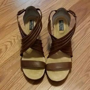 Adam Tucker Shoes - Adam Tucker me too  criss cross wedges Sz 10 NWOT