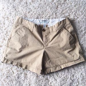 Old Navy Pants - OLD NAVY Tan khaki Chino Shorts