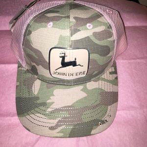 John Deere Accessories - John Deere Pink Camo Mesh Hat