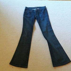 Frankie B. Denim - Frankie B. Flare stretch dark blue jeans