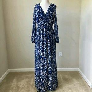 4c97b1083a98c White House Black Market Dresses - Long sleeve cold shoulder floral maxi  dress