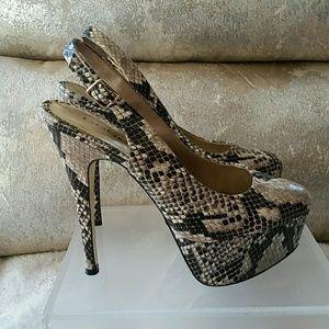bebe Shoes - Bebe snake print heels