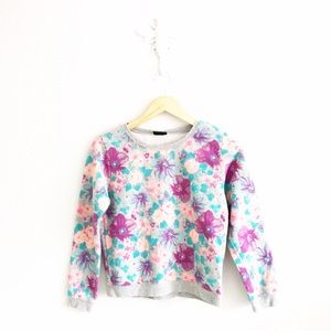 joe boxer Tops - Joe Boxer Floral Cropped Crewneck Sweatshirt