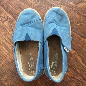 Shoes - Toms Size T9 Blue