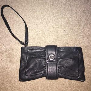 Marc Jacobs bow pouchette/wristlet black bag