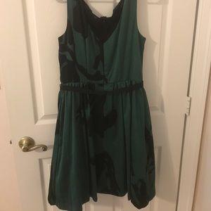 Taylor Dresses - Full skirt emerald dress
