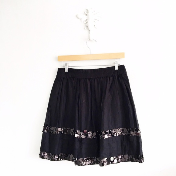 loft loft black a line sequin stripe skirt from kait s