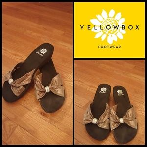 Yellow Box Shoes - BEAUTIFUL BRONZE YELLOW BOX WEDGES!