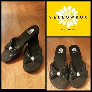 Yellow Box Shoes - Brand New without box...Yellow Box Black Wedges!