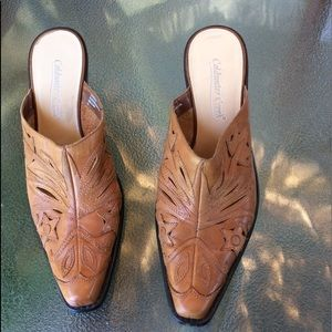 Coldwater Creek Shoes - Coldwater creek Western-style  leather mule  sz  8