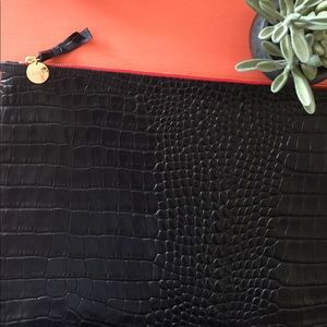 Clare Vivier Handbags - 🌵Crocodile Oversized Clutch