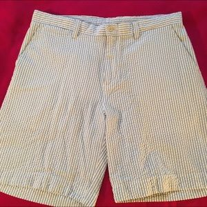 Lyle & Scott Other - Blue Seersucker Shorts