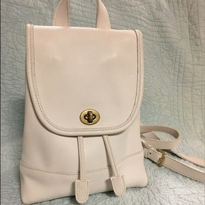 Rare white vintage Coach backpack