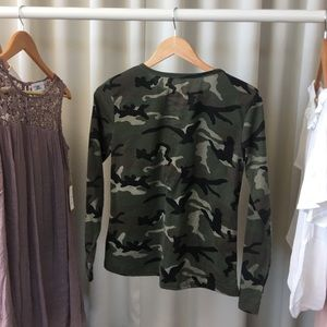Tops - Camo Lace-Up Top