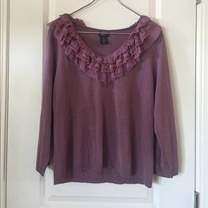 Evie Sweaters - Evie Ruffle Neck Sweater size XL
