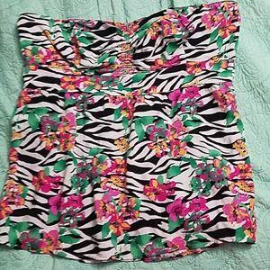 torrid Tops - Cute Zebra Floral Tube Top