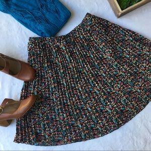Tabitha pleated chiffon floral pullover midi skirt