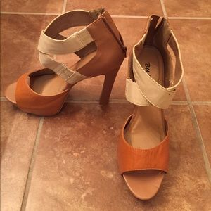 Shoes - Tall tan heels