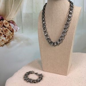 Stainless Steel Necklace & Bracelet Set