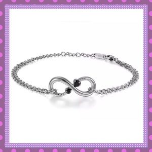 🆕ANKLET Infinity with Heart Shaped Colored CZ🌸