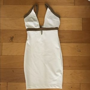 """Lilac Shade Dresses & Skirts - """"Lilac Shade"""" white & brown dress size 6"""
