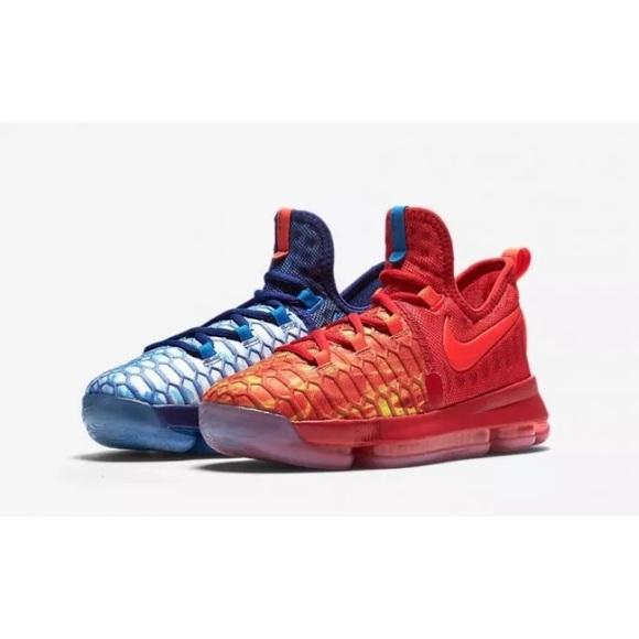 best service 87f60 07b55 Nike KD 9 Fire   Ice GS Size 7Y
