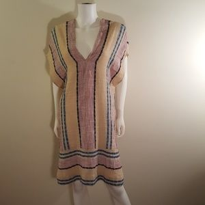 Free People So Easy Striped Pullover Tunic Size S