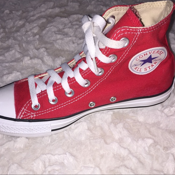 58 off converse shoes red high top converse all star
