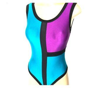 Amazing  Vtg Color Block Bathing Suit