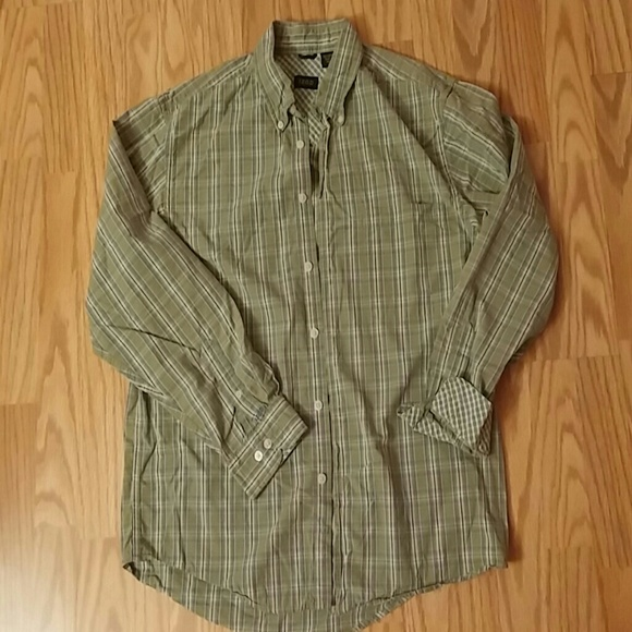 78 off izod other izod men 39 s green plaid button down for Izod button down shirts