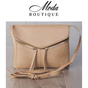 LV Designs Handbags - #MODA3445CB Khaki Zip Cross Body Bag