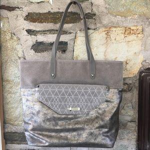 Stella & Dot Handbags - Stella & Dot Hudson Tote w/ Waverly Clutch- New!