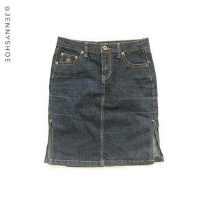 South Pole Dresses & Skirts - {south pole} jean skirt with slits