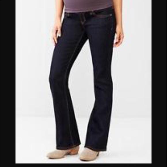 dd99ffa3dbe67 GAP Denim - Dark wash Gap baby boot maternity jeans, 27 reg.