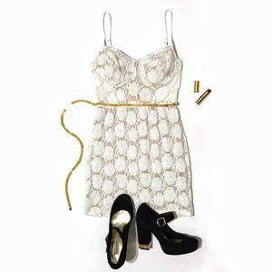 Ark & Co Dresses & Skirts - Ark & Co. Off-White Lace Bustier Mini Dress