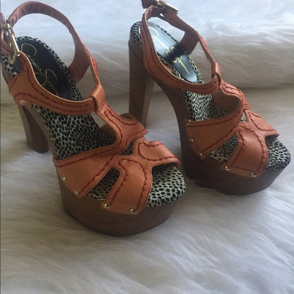 a36d94305f Jessica Simpson Shoes - Jessica Simpson Wood Platform Heels