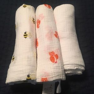 aden + anais Other - NWOT A&A Swaddlers - set of 3