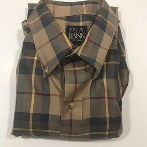 Jos A. Bank Other - JOS. A BANK PLAID MEN'S DRESS SHIRT LARGE