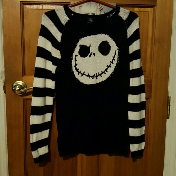 Hot Topic Nightmare Before Christmas Sweater.Nightmare Before Christmas Jack Knit Sweater