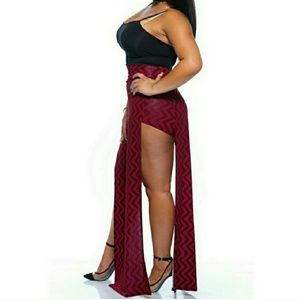 Dresses & Skirts - Plus Size Maxi Skirt with High Splits
