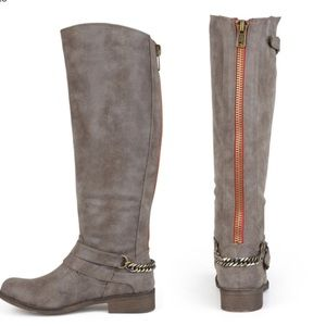 Taupe Madden Girl Riding Boots