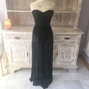 "Boutique Dresses & Skirts - •new• NWOT ""Transparence"" mesh maxi bodysuit dress"