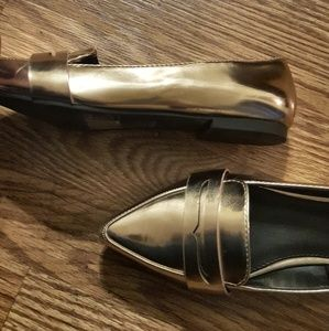 227f2bbdc6f Forever 21 Shoes - F21 Rose Gold Penny Loafers