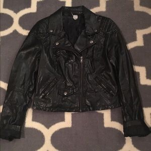 Divided Jackets & Blazers - Black faux leather Jacket