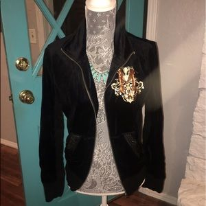 Miss Me velour sequined jacket 💛
