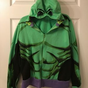 Marvel Other - Zip up Hulk hoodie with mask