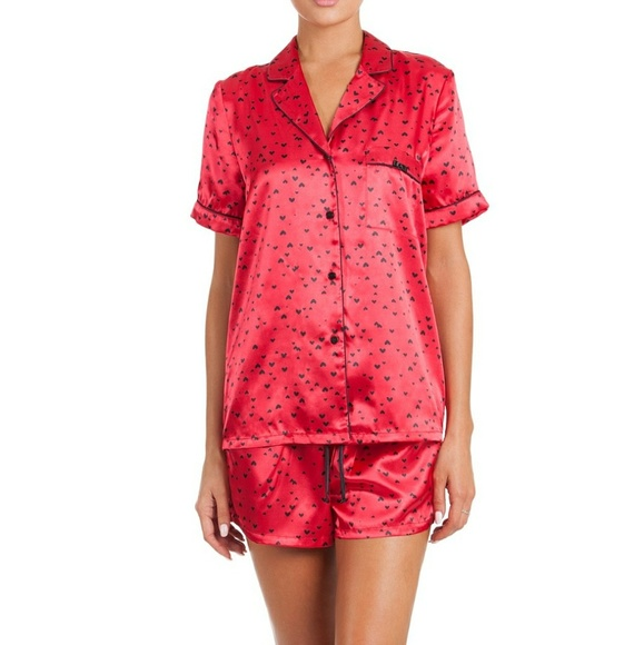 87acba70d In Bloom by Jonquil Satin Shorts Pajama Set