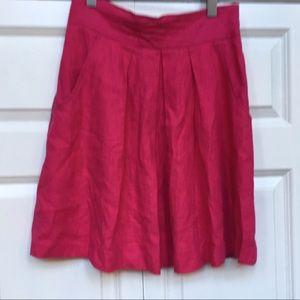 Topshop Fuchsia A-line Skirt EUC