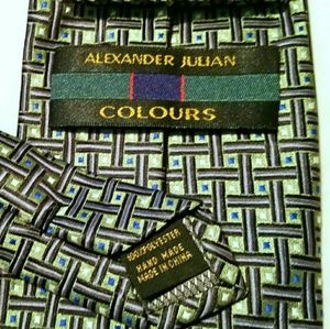 Alexander Julian Other - Alexander Julian Colours Green Boxes Tie Necktie