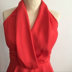 Foreign Exchange Dresses & Skirts - Red Orange cocktail dress fully lined w pockets! S